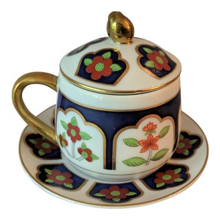 Fitz & Floyd Pot De Crème Demitasse Coffee - Set of 8 For Sale