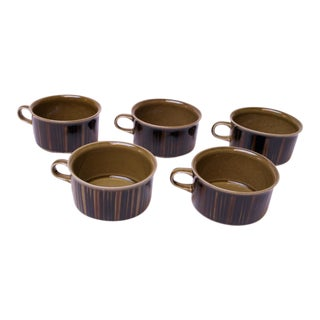 "Set of Five Arabia of Finland ""Kosmos"" Porcelain Tea / Coffee Cups For Sale"