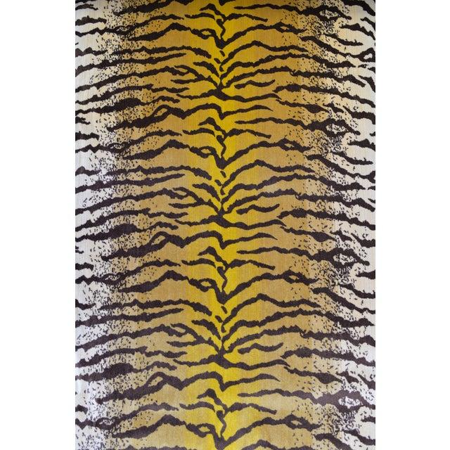 Safari Tiger Silk Velvet Fabric - 1 Yard For Sale - Image 3 of 6