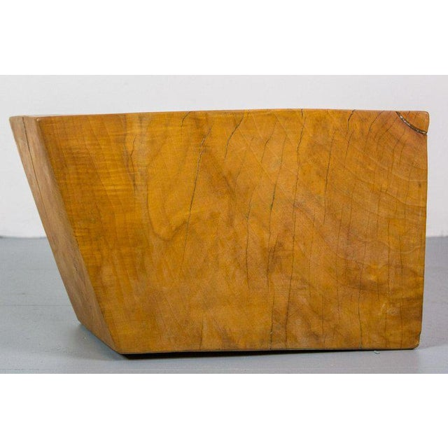 Howard Werner Huge Solid American Studio Coffee Table or Stool by Howard Werner For Sale - Image 4 of 8