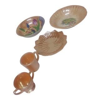 Vintage Carnival Glasswar - Set of 5 For Sale