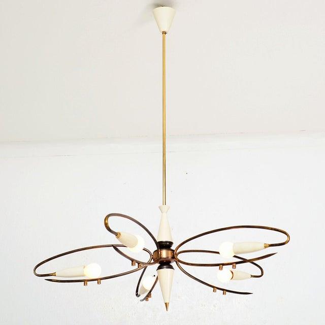 Mid Century Modern Italian Sputnik Chandelier by Stilnovo 1950s For Sale - Image 10 of 10