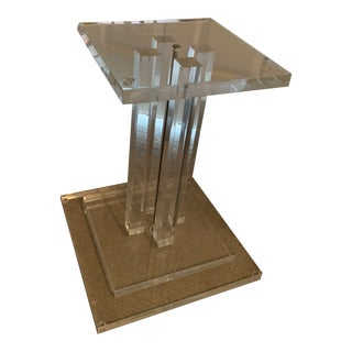1970's Vintage Lucite Accent Table Base For Sale