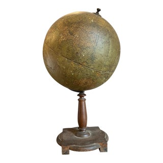 20th Century Vintage 1950s Wooden Globe For Sale