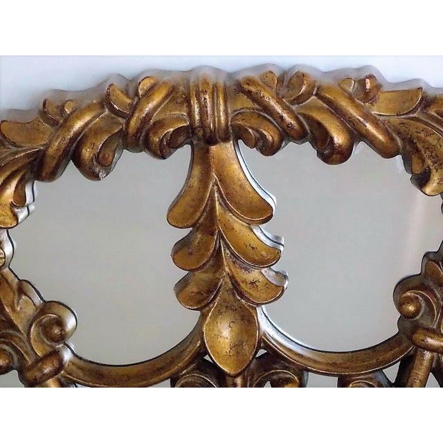 Wood Regency Style Round Mirror For Sale - Image 7 of 8