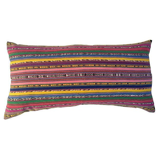 Guatamalin Ikat Colorful Pillow For Sale - Image 5 of 5