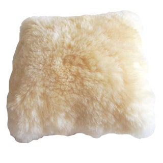 Cream Alpaca Fur Pillow