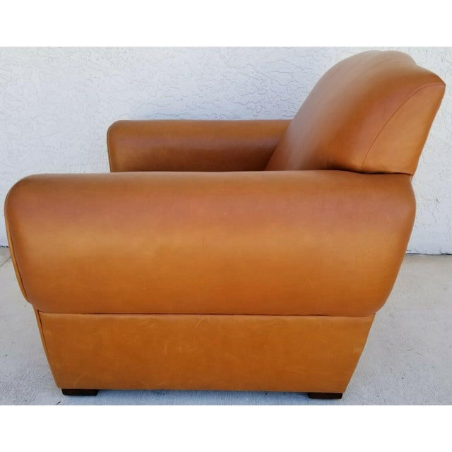 Ralph Lauren MCM Ralph Lauren Genuine Leather Club Lounge Armchair For Sale - Image 4 of 12
