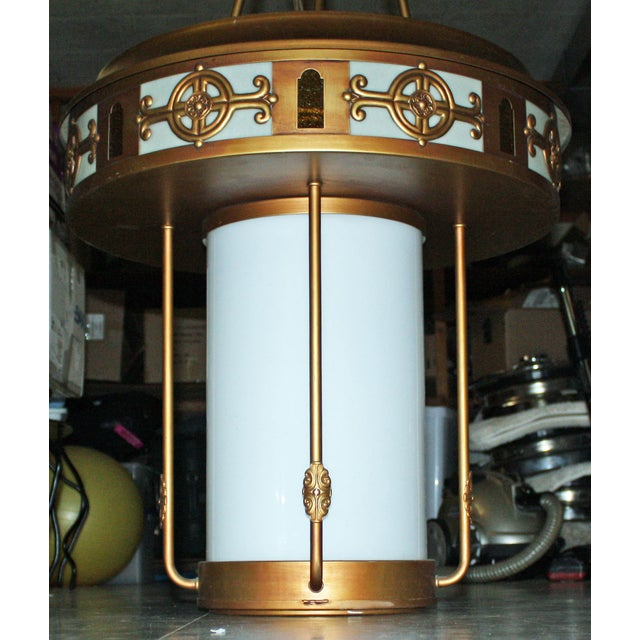 Art Deco Style Large Pendant Light - Image 3 of 9