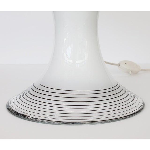 Italian Black and White Murano Swirl Glass Table Lamp - Image 10 of 10