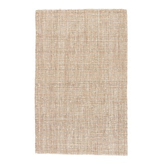 Jaipur Living Mayen Natural Solid White & Tan Area Rug - 10' X 14' For Sale