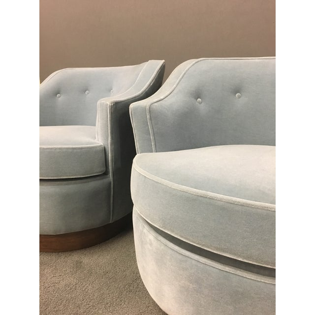 Mid-Century Modern Mohair Chairs - A Pair - Image 4 of 10