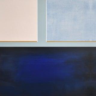 Modern Blue Color Block