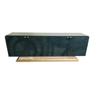 Caracole Modern Deja Blue Cabinet For Sale
