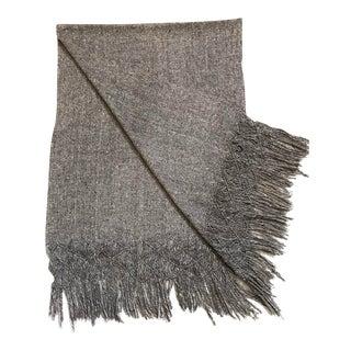 Vintage Mexican Wool Throw Blanket