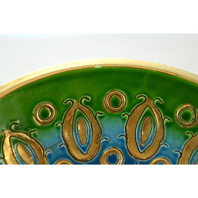 Mid 20th Century Aqua Bitossi Bowl by Aldo Londi, 1960s For Sale - Image 5 of 6