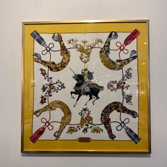 Vintage Hermès Custom Framed Scarf For Sale - Image 13 of 13
