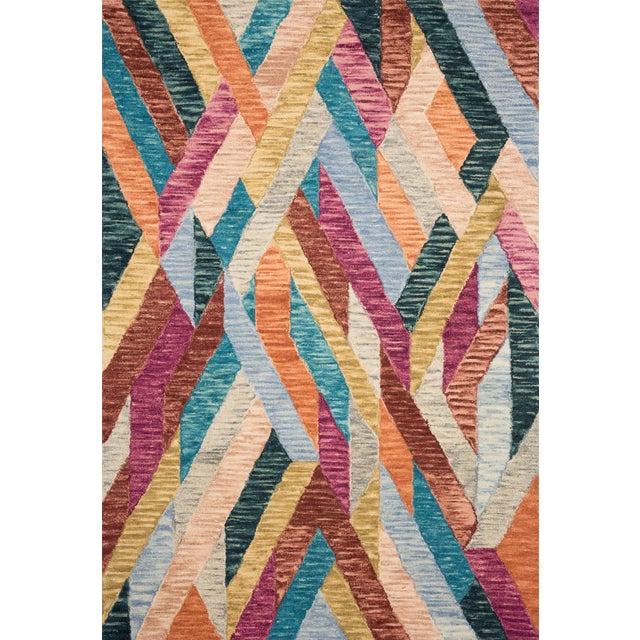 "Contemporary Justina Blakeney X Loloi Rugs Hallu Rug, Fiesta / Multi - 2'3""x3'9"" For Sale - Image 3 of 3"