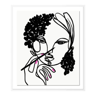 Draw Me by Annie Naranian in White Frame, Small Art Print For Sale