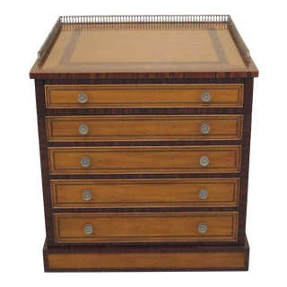 Traditional Maitland Smith Satinwood Inlaid Occasional Cabinet For Sale