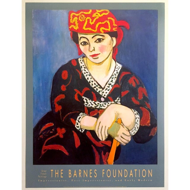 "Henri Matisse Vintage 1991 Lithograph Print Museum Poster "" Madame Matisse Madras Rouge "" 1907 For Sale - Image 13 of 13"