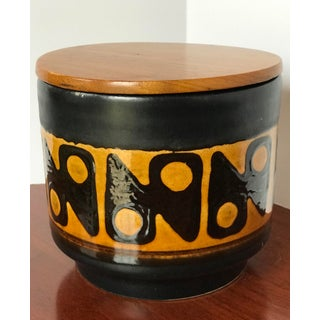 Mid-Century German Ceramic Lidded Jar Humidor and Ashtray Preview