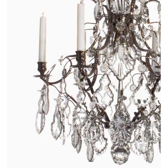 Baroque chandelier 6 chrome pendeloque chairish baroque chandelier 6 chrome pendeloque for sale image 4 of 4 aloadofball Image collections