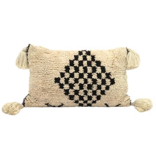 Large Vintage Moroccan Beni Ourain Pillow