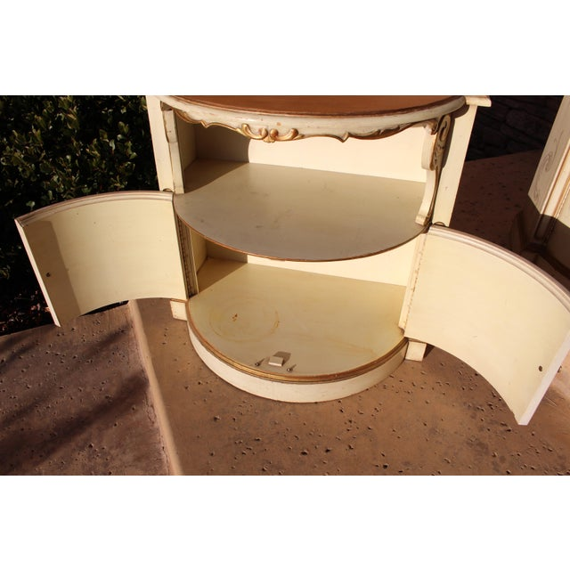 Karges Furniture Karges Painted Demilune Nightstand - Pair For Sale - Image 4 of 11
