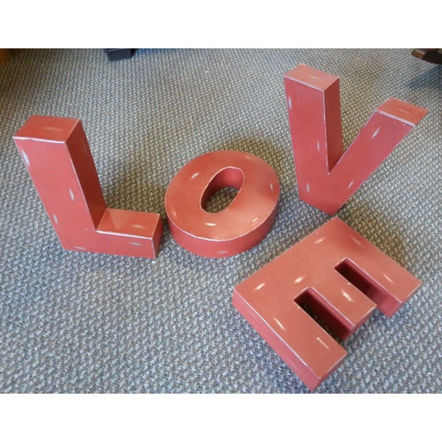 "Industrial Metal Hanging ""Love"" Letters - Set of 4 - Image 4 of 7"