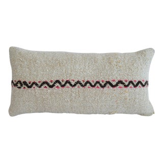 Kilim Pillow Cover Lumbar. 100% Natural Pure Hemp Sham - 13ʺ X 26ʺ For Sale