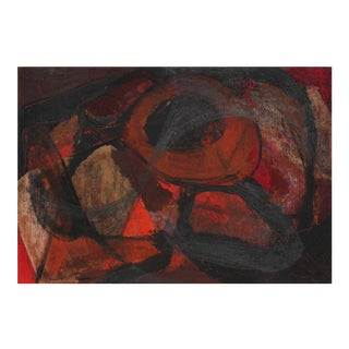 Jack Freeman Abstract Expressionist Study in Red and Black, Circa 1960s For Sale