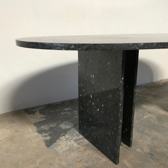 Willy Ballez Granite Dining Table For Sale - Image 5 of 7