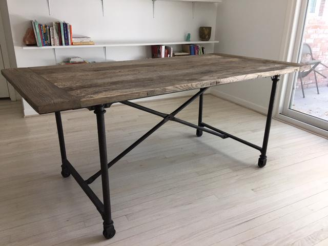 Restoration Hardware Flat Iron Dining Table Chairish