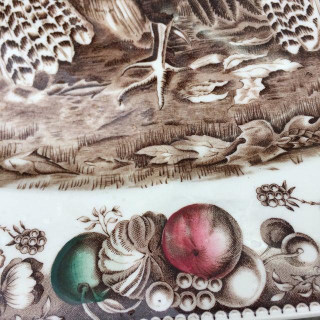 English Transferware Turkey Platter For Sale - Image 4 of 11