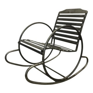 Wrought Iron Porch Rocking Chair