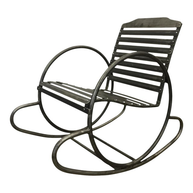 Wrought Iron Porch Rocking Chair For Sale