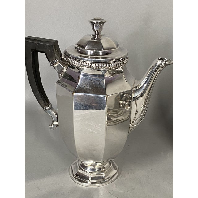 Christofle Antique 19th Century Christofle Silver-Plated Tea Set - Set of 5 For Sale - Image 4 of 11