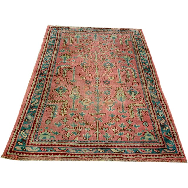Antique Decorative Turkish Oushak Rug - 4' x 6' - Image 1 of 4