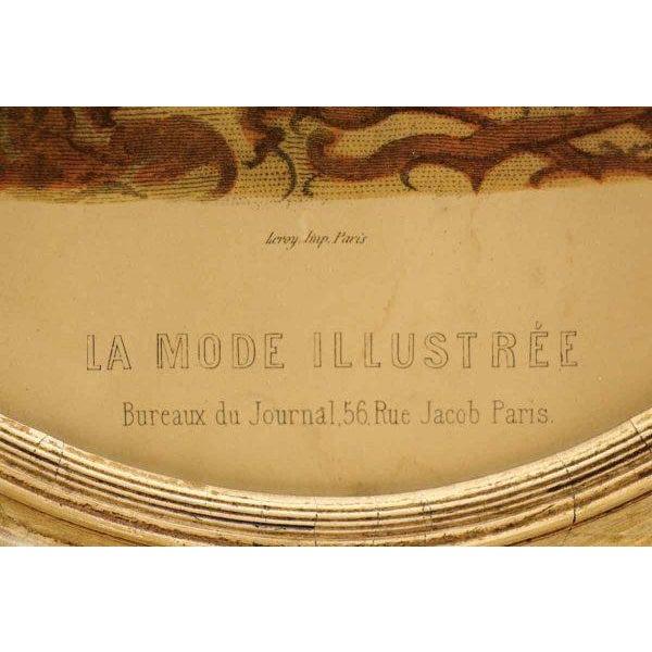 Framed Oval Victorian Print For Sale - Image 6 of 6