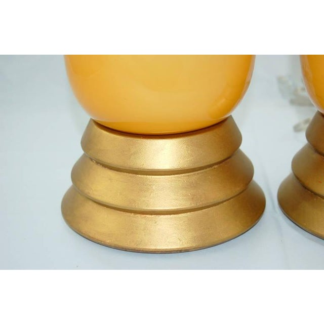 Vintage Murano Glass Table Lamps Butterscotch For Sale In Little Rock - Image 6 of 9