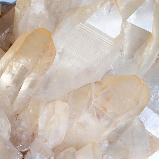 Large Golden Quartz cluster, getting its name from the golden color from the presence of oxidized Hematite.