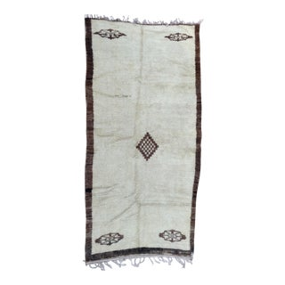Beni Ourain Vintage Moroccan Rug- 6′8″ × 13′6″ For Sale