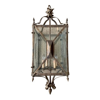 Antique French Directoire Style Hall Lantern For Sale