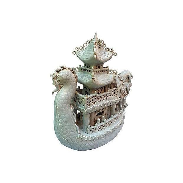Celadon Pagoda Ship - Image 2 of 6