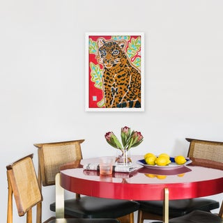 "Small ""Red Jaguar"" Print by Jelly Chen, 15"" X 20"" Preview"