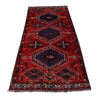 """Antique Persian Hand Knotted Shirazi Rug - 4'5"""" x 9'9"""""""
