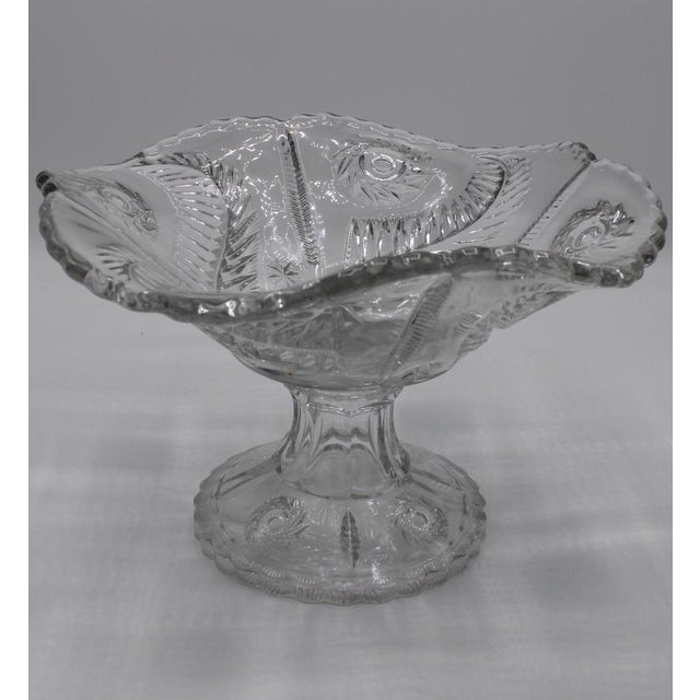 Mid 20th Century Mid-Century French Crystal Cut Glass Compote For Sale - Image 5 of 13