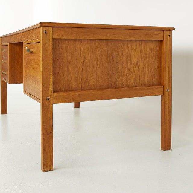 Wood Farso Stolefabrik for Maurice Villency Mid Century Danish Teak Desk For Sale - Image 7 of 13