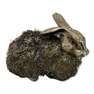 Italian Sterling Silver Rabbit Figurine For Sale